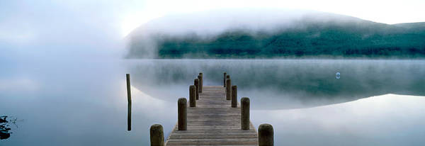 St. Marys Photograph - Fog Over A Lake, St. Marys Loch by Panoramic Images