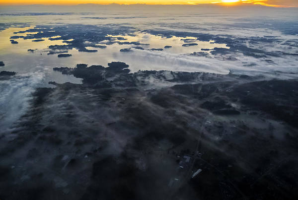 Photograph - Fog Over Lake Norman Nc II by Greg Reed
