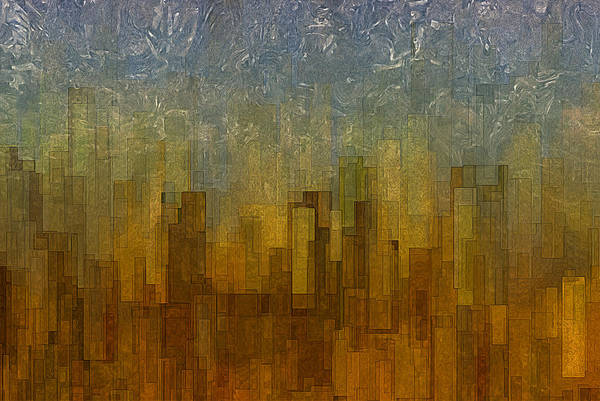 Visual Illusion Wall Art - Painting - Fog Over Midtown by Jack Zulli