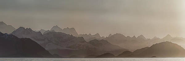 Glacier Bay Photograph - Fog Over Mountain In Glacier Bay by Panoramic Images
