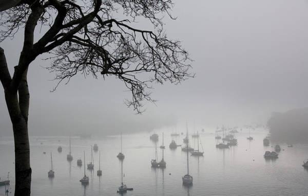 Drown Photograph - Fog Over Salcombe Estuary by Adam Hart-davis/science Photo Library