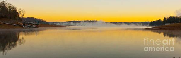 Fog Over The Lake Art Print