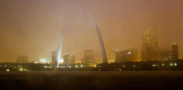 Photograph - Fog Over The St Louis Skyline by Garry McMichael