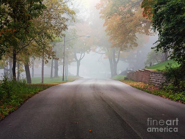 Photograph - Foggy Autumn Drive by Kari Yearous