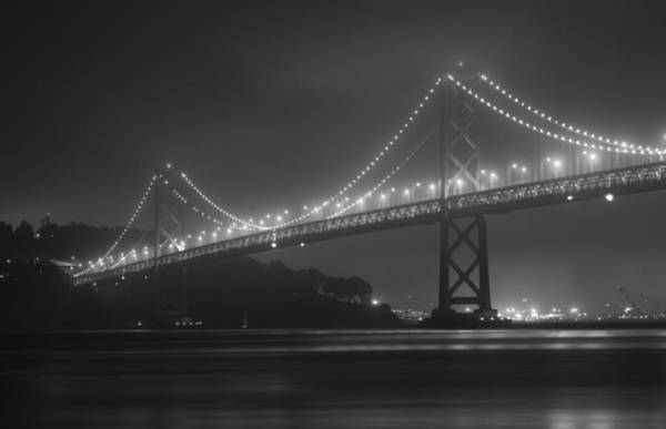 Foggy Bay Bridge Art Print