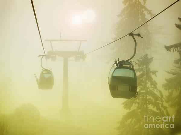 Ropeway Photograph - Foggy Cable Car by Sinisa Botas