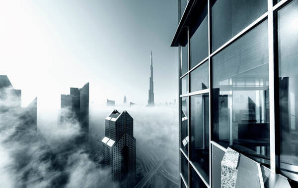 Spire Wall Art - Photograph - Foggy City by