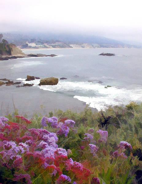 Laguna Beach Painting - Foggy Day In Laguna Beach by Elaine Plesser