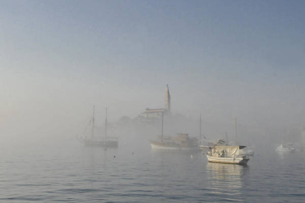 Disappearance Photograph - Foggy Day In Rovinj Town by Arsenije Jovanovic