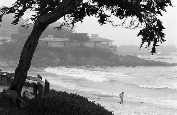 Foggy Day On Carmel Beach Art Print