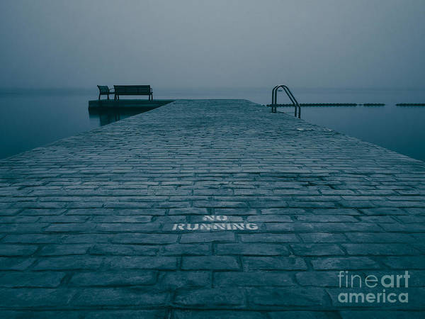 Arlington County Photograph - Foggy Evening On The Dock by Mark Miller