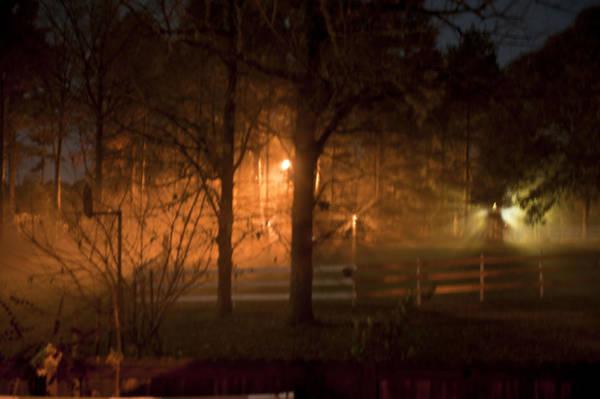 Wall Art - Photograph - Foggy Fall Night by Bill Perry