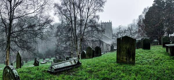 Photograph - Foggy Fewston Cemetery by Dennis Dame