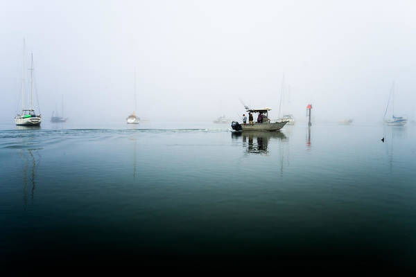 Photograph - Foggy Fishing Trip by Priya Ghose