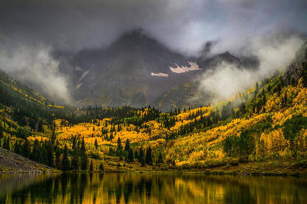 Wall Art - Photograph - Foggy Maroon Bells by Peter Irwindale