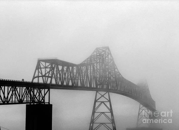 Astoria Bridge Photograph - Foggy Megler Bridge by Robert Bales