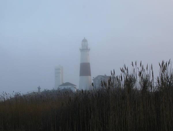 Foggy Montauk Lighthouse Art Print