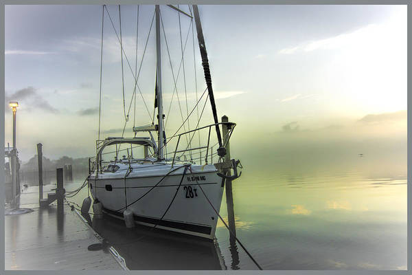 Photograph - Foggy Morning At The Dock by Dorothy Cunningham