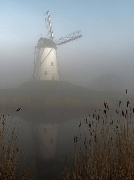 Windmills Photograph - Foggy Morning by Elisabeth Wehrmann