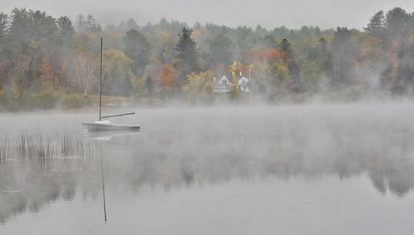 New Hampshire Photograph - Foggy Morning Small Lake, New Hampshire by Darrell Gulin