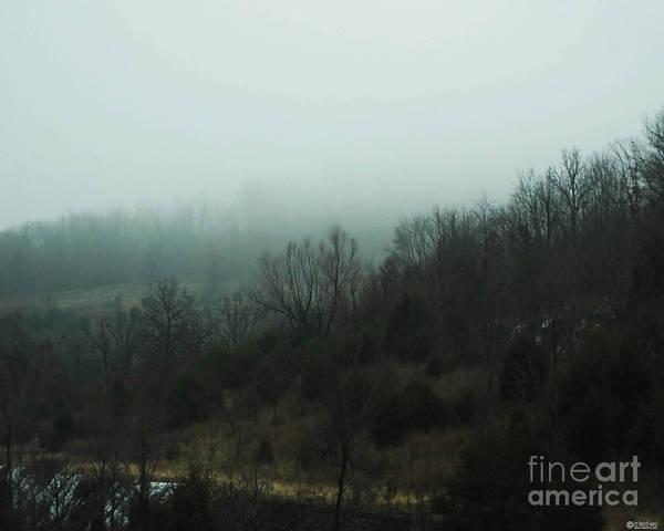 Photograph - Foggy Mountain Morning Bentonville Ar by Lizi Beard-Ward