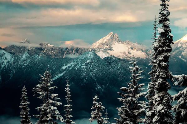 Treeline Photograph - Foggy Mountain by Ryan McGinnis