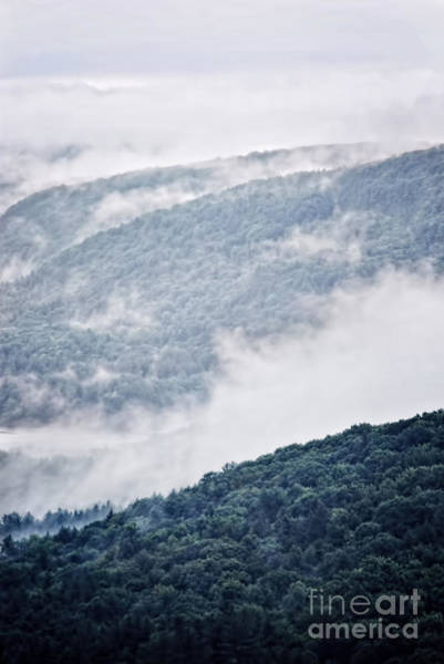 Wall Art - Photograph - Foggy Mountainscape by HD Connelly
