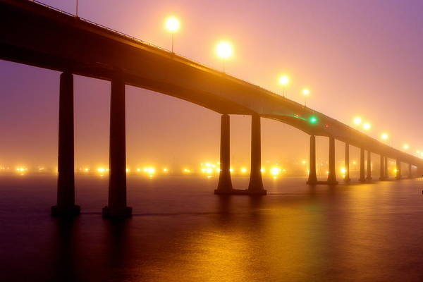 Wall Art - Photograph - Foggy Navy Bridge by Jennifer Casey