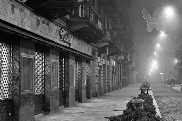 Photograph - Foggy Night In Milan by Alex Roe