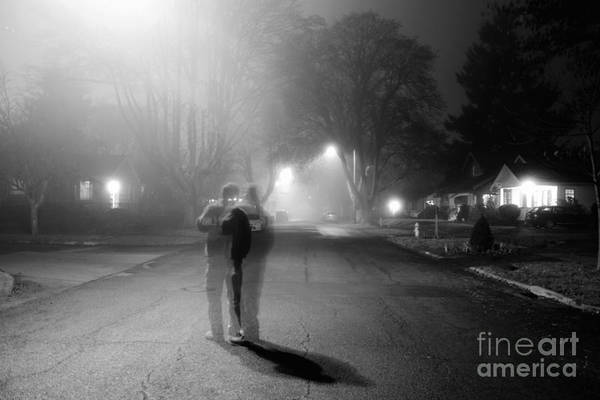 Photograph - Foggy Night by Michael Cross