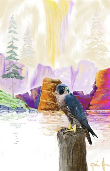 Colorado Wildlife Digital Art - Foggy Notch Falls by J Griff Griffin