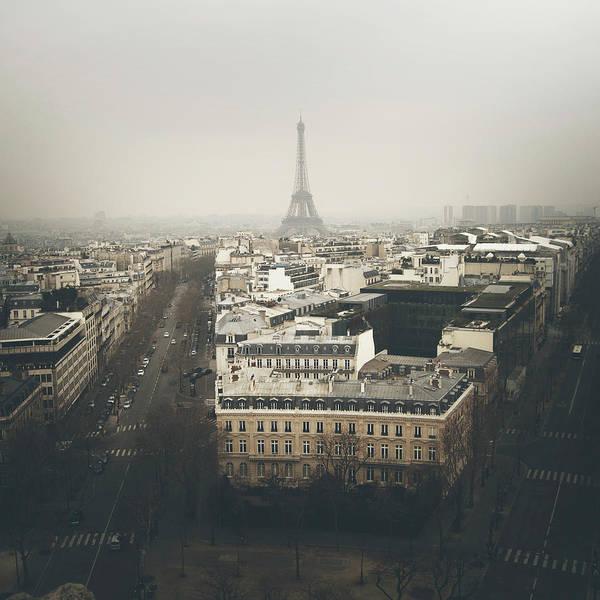 Paris Rooftop Photograph - Foggy Paris by Monica Garcia