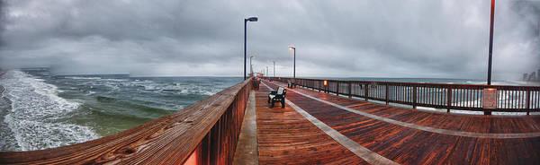 Wall Art - Digital Art - Foggy Pier  by Michael Thomas