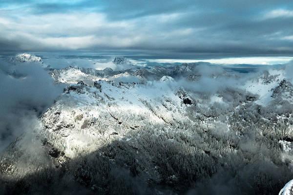 Treeline Photograph - Foggy Ridge by Ryan McGinnis
