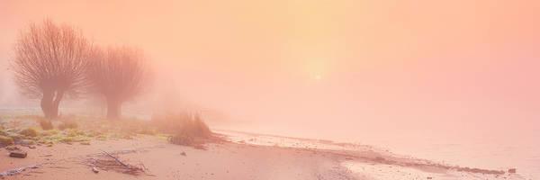 Wall Art - Photograph - Foggy Sunrise Along A River, River Lek by Sara winter