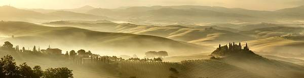 Wall Art - Photograph - Foggy Sunrise In Tuscany by © Jan Zwilling