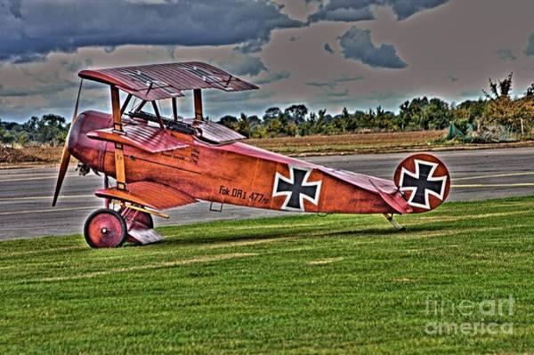Photograph - Fokker Tri-plane by Jeremy Hayden