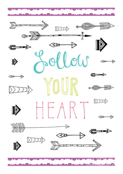 Positive Digital Art - Follow Your Heart by MGL Meiklejohn Graphics Licensing