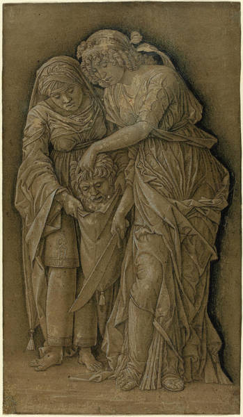 Prepare Drawing - Follower Of Andrea Mantegna, Judith With The Head by Quint Lox