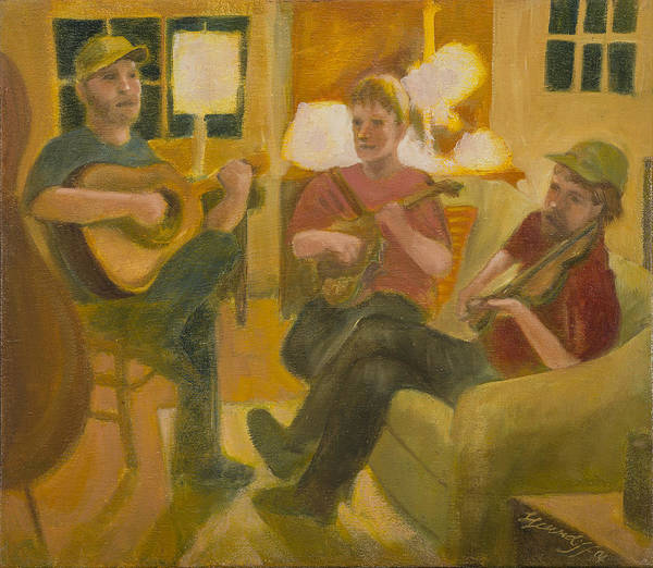 Painting - Following John by Laura Lee Cundiff