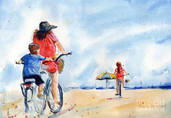 Hilton Head Island Painting - Following The Leader by Maria Reichert