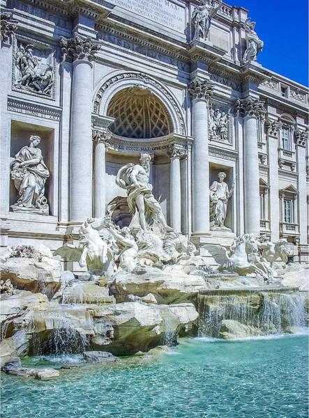 Photograph - Fontana Di Trevi Rome by Julie Palencia