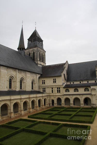 Fontevraud Photograph - Fontevraud Abbey Courtyard -  France by Christiane Schulze Art And Photography