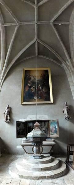 Photograph - fonts baptismaux de saint jean-baptiste de Chaource by Marc Philippe Joly