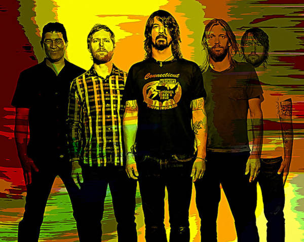 Case Mixed Media - Foo Fighters by Marvin Blaine