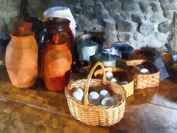 Photograph - Food - Baskets Of Eggs by Susan Savad