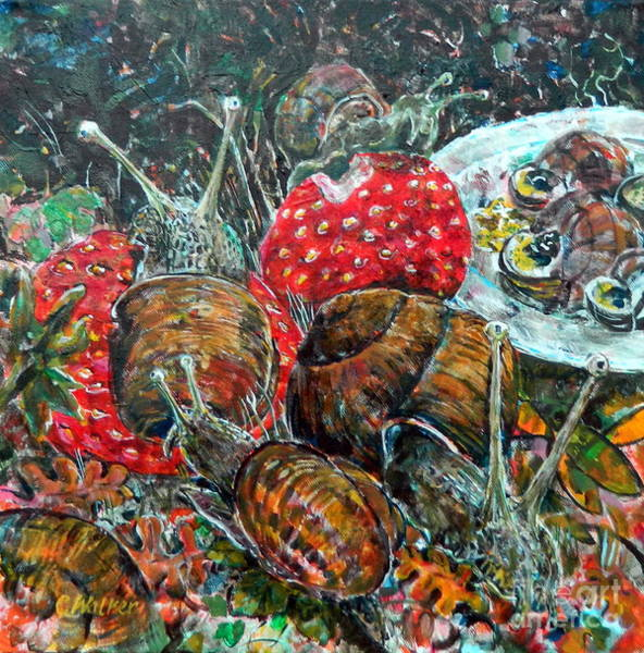 Food Chain Painting - Food Chain I by Chris Irwin Walker