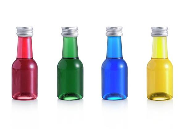 Bottle Green Photograph - Food Colourings by Science Photo Library