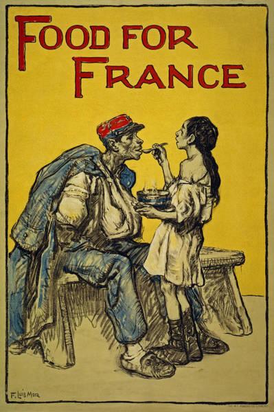 Propaganda Drawing - Food For France, 1918 by Francis Luis Mora