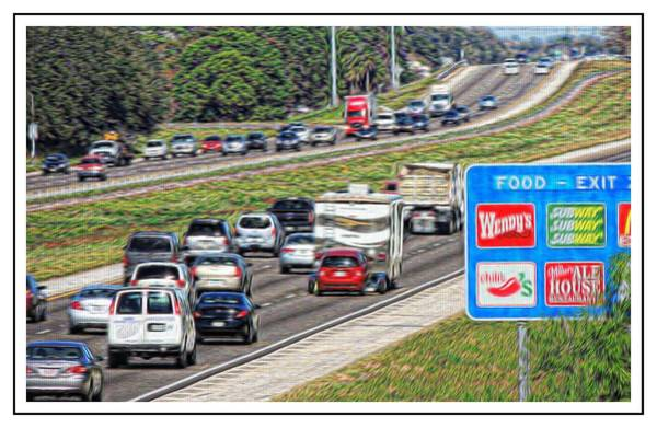 I-75 Photograph - Food Next Exit - 2 by Larry Mulvehill